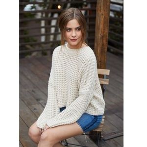 GREEN L.A. Hearts chunky knit sweater